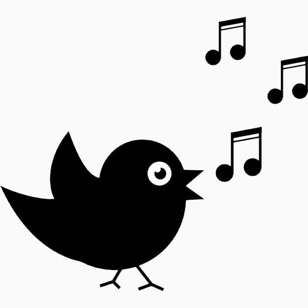 image of cartoon bird singing